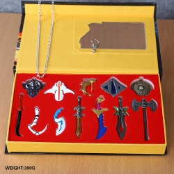 DOTA key chain and necklace se...