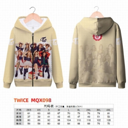 TWICE Full color zipper hooded...