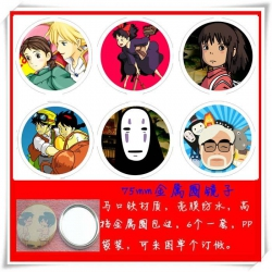 Spirited Away Mirror 75mm 6 pc...