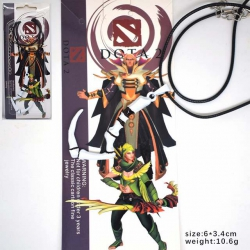 DOTA2 White hook Necklace pend...