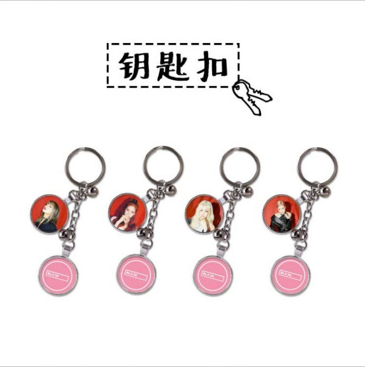 BLACKPINK Double-picture metal Key Chain glue drop price for 4 pcs