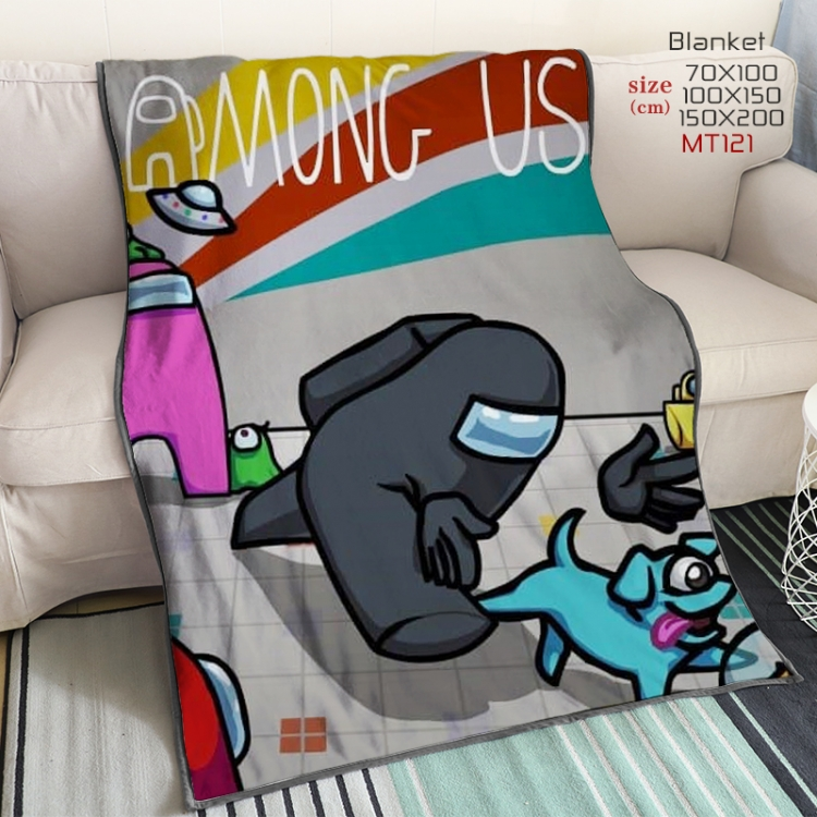 Among US  Anime double-sided printing super large lambskin blanket150X200CM Style 2