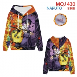 Naruto hooded plus fleece swea...